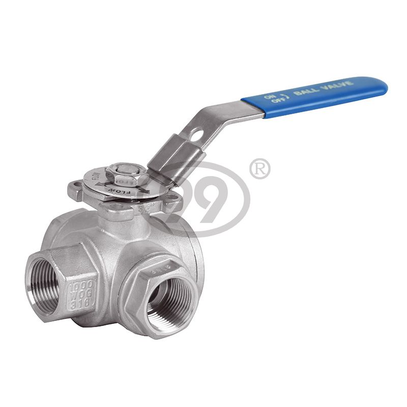 3-Way Ball Valve (L/T Type) (Reduce Bore 1000PSI)